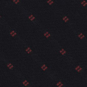 Red on Midnight Blue Pattern Wool Tie # 6