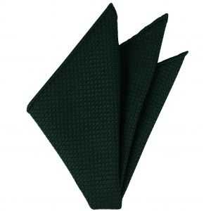 Forest Green Grenadine Silk Pocket Square #16