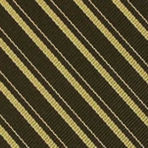 Lime Green & White on Dark Olive Reppe Stripe Silk Tie #23
