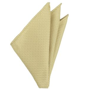 Light Yellow Grenadine Silk Pocket Square #26