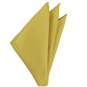 Corn Yellow Grenadine Grossa Silk Pocket Square #27
