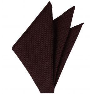 Burgundy Grenadine Silk Pocket Square #3