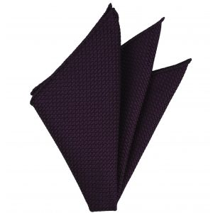 Dark Purple Grenadine Grossa Silk Pocket Square #35