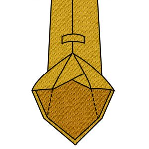 7-fold Unlined Tie Construction with flat edges