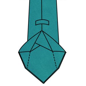 7-fold Unlined Tie Construction With Tipping