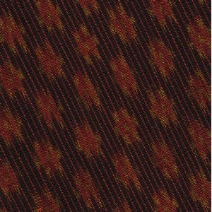 Red & Yellow Gold on Black Mudmee Silk Tie #9