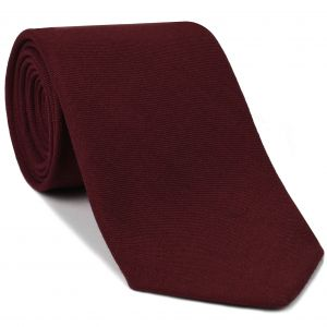 Macclesfield Challis Red Solid Wool Tie #2