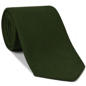 Macclesfield Challis Forest Green Solid Wool Tie #7