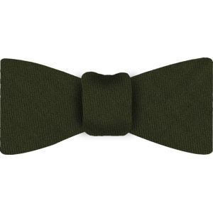 Forest Green Solid Challis Wool Bow Tie #7