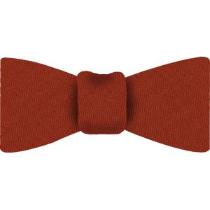 Burnt Orange Solid Challis Wool Bow Tie #8