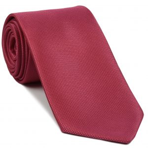 Dark Pink Diamond Weave Silk Tie #16