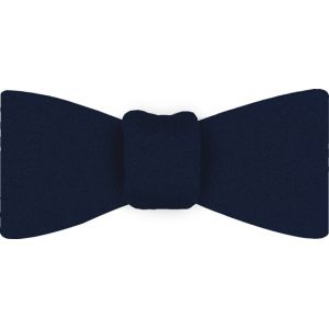 Dark Navy Satin Silk Bow Tie #5