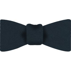 Midnight Blue Satin Silk Bow Tie #6
