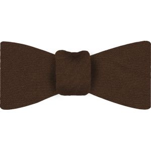 Dark Brown Satin Silk Bow Tie #7