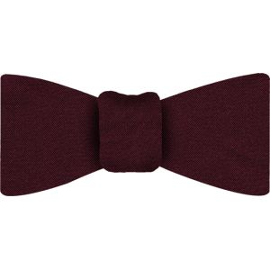 Burgundy Satin Silk Bow Tie #8