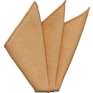 Tan Grenadine Silk Pocket Square #30