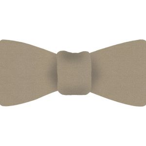 Light Cream Satin Silk Bow Tie #1