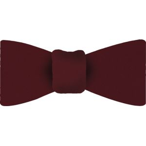 Dark Red Satin Silk Bow Tie #10