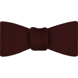 Burgundy Satin Silk Bow Tie #11
