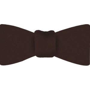 Chocolate Satin Silk Bow Tie #13
