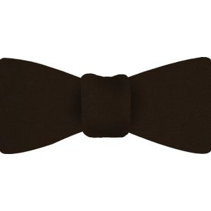 Dark Chocolate Satin Silk Bow Tie #14