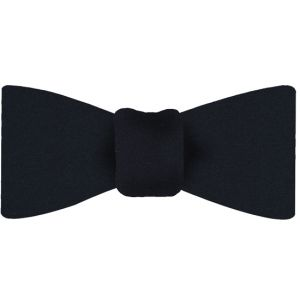 Dark Navy Blue Satin Silk Bow Tie #7
