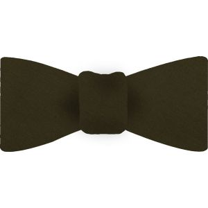 Olive Shot Thai Silk Bow Tie #14