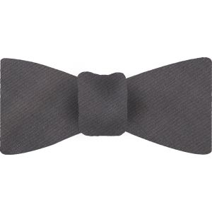 Charcoal Gray Shot Thai Silk Bow Tie #15