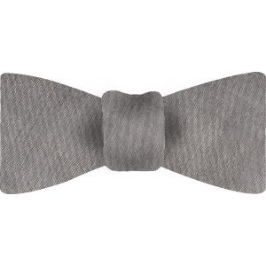 Silver Gray Shot Thai Silk Bow Tie #16