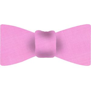 Sweet Pink Shot Thai Silk Bow Tie #25