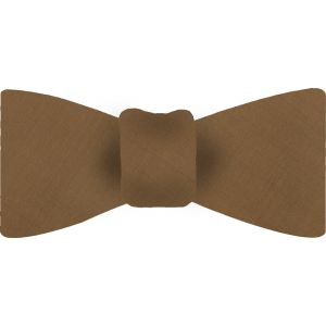 Golden Brown Shot Thai Silk Bow Tie #34