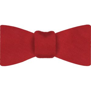 Bright Red Thai Shot Silk Bow Tie #53
