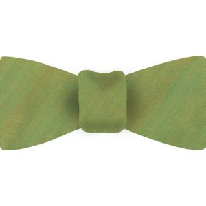 Light Young Leaf Green Thai Shot Silk Bow Tie #71