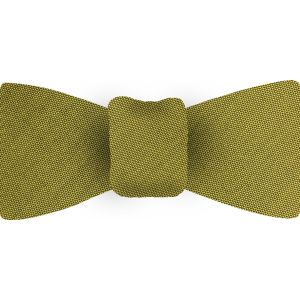 Young Leaf Green Shot Thai Silk Bow Tie #8
