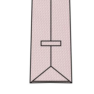 Flat Tie Edges Without Tipping