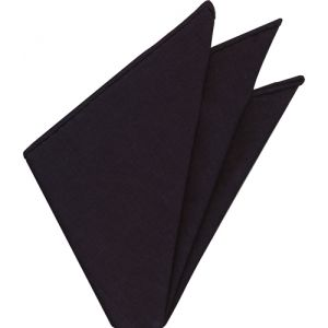 Midnight Blue Belgian Linen Pocket Square