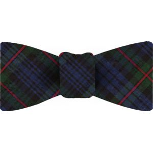Mackinlay Plaid Tartan Irish Poplin Bow Tie #8