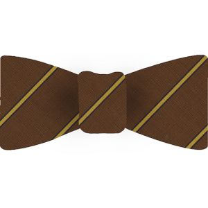 Atkinsons Striped Irish Poplin Bow Tie #21