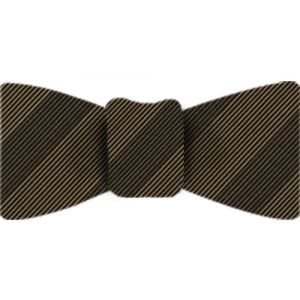 Atkinsons Stripe Irish Poplin Bow Tie #58
