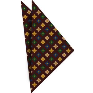 Atkinsons Printed Irish Poplin Pocket Square #12