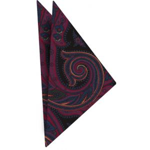 Atkinsons Printed Irish Poplin Pocket Square #4