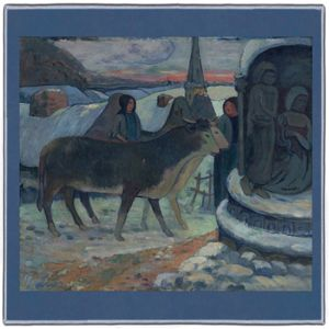 Gauguin Christmas Night 1894 Pocket Square #1A