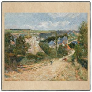Gauguin Entrance to the Village of Osny 1882-83 Pocket Square #2A