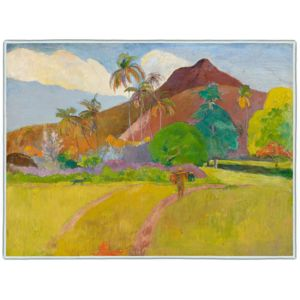 Gauguin Tahitian Landscape 1891 Rectangle #4