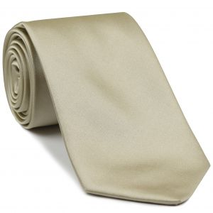 Light Cream Satin Silk Tie #1