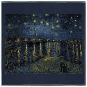 Van Gogh Starry Night over the Rhone 1888 Pocket Square #2A