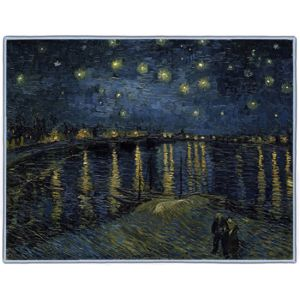 Van Gogh Starry Night over the Rhone 1888 Rectangles #2B