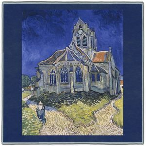 Van Gogh The Church at Auvers 1890 Pocket Square #3A