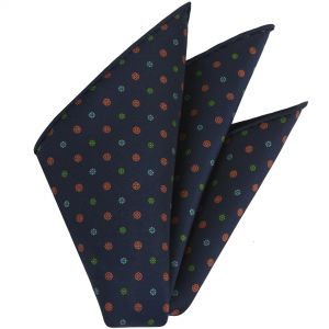 Macclesfield Printed Silk Pocket Square #95