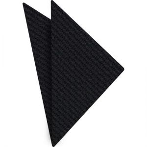 Black & Midnight Blue Cashmere/Silk Grenadine Grossa Silk Pocket Square #1